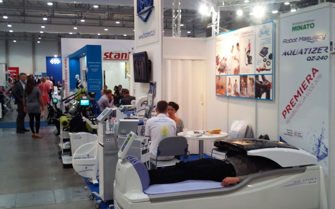 Premiera nowoczesnego robota Aquatizer QZ-240 – Międzynarodowe Targi Medycyny Fizykalnej i Rehabilitacji Łódź
